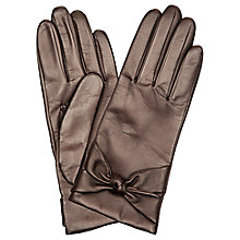 Buy Hobbs Verity Bow Leather Gloves Online at johnlewis.com