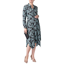 Buy Pure Collection Silk Floaty Hem Dress, Charcoal Paisley Online at johnlewis.com