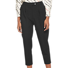 Buy Whistles Carrot Leg Trousers, Black Online at johnlewis.com
