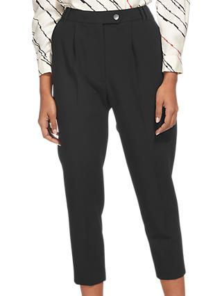 Whistles Carrot Leg Trousers, Black