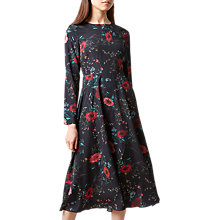 Buy Hobbs Chloe Floral Dress, Black/Multi Online at johnlewis.com