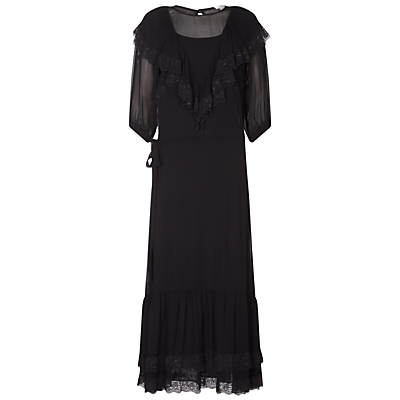 Victorian Costumes: Dresses, Saloon Girls, Southern Belle, Witch Ghost Olivia Dress Black £165.00 AT vintagedancer.com