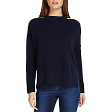 Buy Phase Eight Cammi Cut Neck Chunky Knit Jumper, Navy Online at johnlewis.com