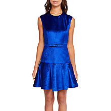 Buy Ted Baker Maryann Velvet Ruffle Hem Dress, Bright Blue Online at johnlewis.com