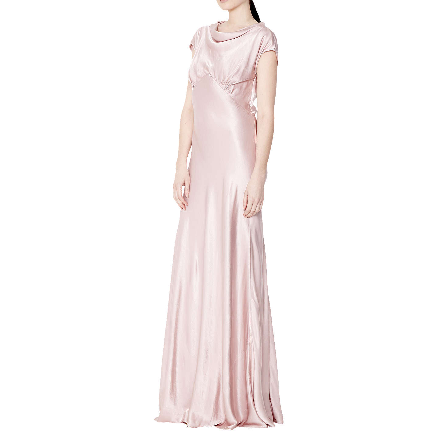 BuyGhost Lyra Dress, Boudoir Pink, XS Online at johnlewis.com