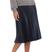 Buy Whistles Satin Pleated Skirt Online at johnlewis.com