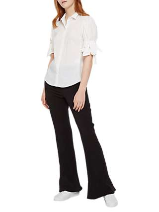 French Connection Glass Stretch Boot Cut Trousers, Black