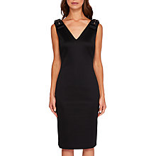 Buy Ted Baker Belliah Bow Shoulder Bodycon Dress, Black Online at johnlewis.com