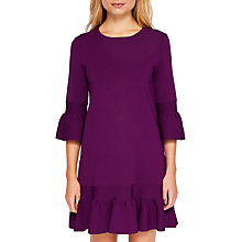 Buy Ted Baker Tynia Peplum Sleeve Dress, Dark Purple Online at johnlewis.com