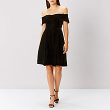 Buy Coast Emilia Velvet Dress, Black Online at johnlewis.com