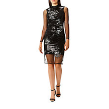 Buy Coast Catarina Sequin Artwork Dress. Black Online at johnlewis.com