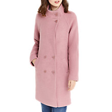 Buy Oasis Florence Double Breasted Coat, Mid Pink Online at johnlewis.com