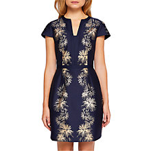 Buy Ted Baker Tzalla Stardust Jacquard Dress, Dark Blue Online at johnlewis.com