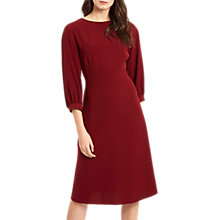 Buy Jaeger Volume Sleeve Dress, Burgundy Online at johnlewis.com
