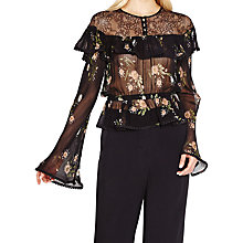 Buy Ghost Leah Embroidered Sheer Blouse, Daisy Bunches Online at johnlewis.com