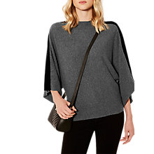 Buy Karen Millen Velvet Knitted Poncho, Dark Grey Online at johnlewis.com