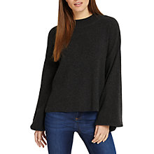 Buy Phase Eight Francina Flare Sleeve Knit Jumper, Dark Charcoal Online at johnlewis.com