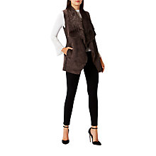 Buy Coast Lia Faux Shearling Gilet, Neutral Online at johnlewis.com