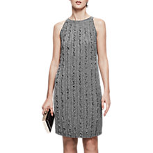 Buy Reiss Ethol Metallic Ruffle Dress, Silver Online at johnlewis.com