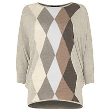 Buy Phase Eight Alyssandra Argyle Knit Jumper, Grey/Blue Online at johnlewis.com
