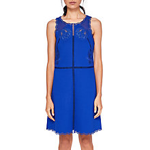 Buy Ted Baker Codi Embroidered Scalloped Hem Dress, Mid Blue Online at johnlewis.com