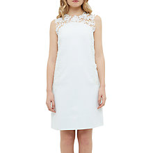 Buy Ted Baker Tie The Knot Andreti Applique Lace Detail Tunic Dress, Light Green Online at johnlewis.com