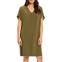 Buy Jaeger Silk Sack Dress, Khaki Online at johnlewis.com
