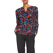 Buy Whistles Jennifer Silk Mari Print Top, Multi Online at johnlewis.com