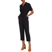 Buy Whistles Modana Spot Jumpsuit, Black/White Online at johnlewis.com