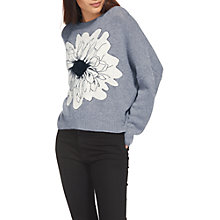 Buy Whistles Floral Intarsia Jumper, Grey Online at johnlewis.com