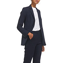 Buy Whistles Flannel Blazer, Navy Online at johnlewis.com