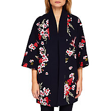 Buy Ted Baker Aurian Bird And Blossom Embroidered Kimono, Navy/Multi Online at johnlewis.com