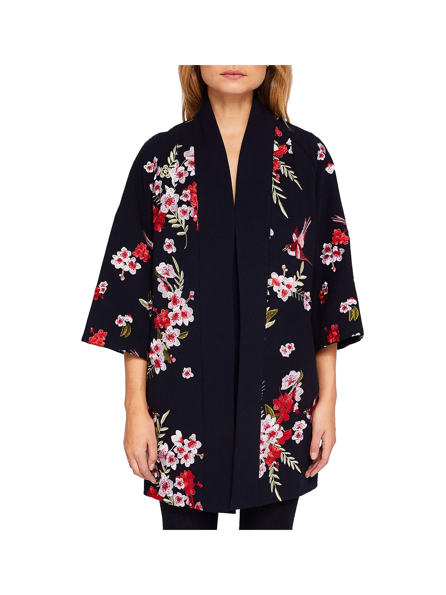 7833148e3 Buy Ted Baker Aurian Bird And Blossom Embroidered Kimono