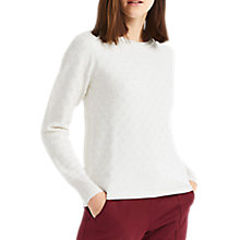 Buy Oasis Textured Spot Jumper, Off White Online at johnlewis.com