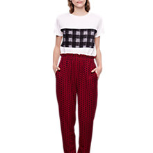 Buy Compañía Fantástica Polka Dot Trousers, Red Online at johnlewis.com