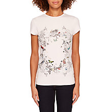 Buy Ted Baker Jow Enchanted Dream Fitted T-Shirt, Pale Pink Online at johnlewis.com