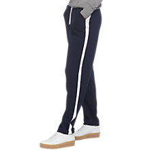 Buy Whistles Wool Cashmere Mix Side Stripe Jogger Trousers, Navy Online at johnlewis.com