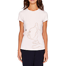 Buy Ted Baker Leella Fairytale Fitted T-Shirt, Pale Pink Online at johnlewis.com