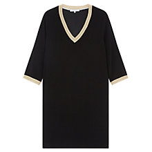 Buy Gerard Darel Lace Trim Shift Dress, Black Online at johnlewis.com