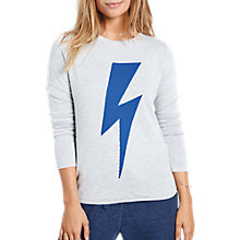 Buy hush Reversible Lightning Bolt Jumper, Grey Marl/Bluebird Online at johnlewis.com