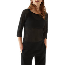 Buy Jigsaw Pleated Rib Swing Jumper Online at johnlewis.com