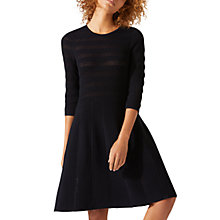 Buy Jigsaw Textured Knitted Dress, Black Online at johnlewis.com
