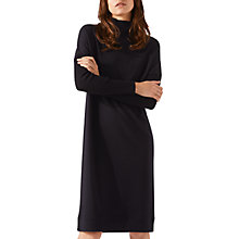 Buy Jigsaw Polo Neck Jersey Dress, Black Online at johnlewis.com