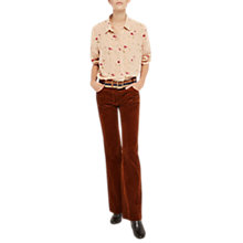 Buy Gerard Darel Wide Leg Cotton Trousers, Camel Online at johnlewis.com
