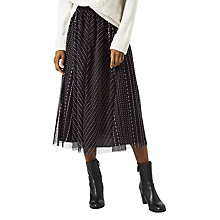 Buy Jigsaw Tulle Midi Skirt, Black Online at johnlewis.com