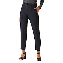 Buy Jigsaw Rib Trim Relaxed Trousers, Black Online at johnlewis.com