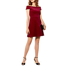Buy Karen Millen Bandeau Velvet Dress, Dark Pink Online at johnlewis.com