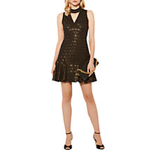 Buy Karen Millen Metallic Clip Geometric Dress, Black/Multi Online at johnlewis.com
