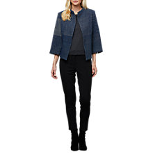 Buy East Bessie Jacquard Jacket, Blue Online at johnlewis.com
