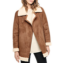 Buy Gerard Darel Faux Shearling Coat, Camel Online at johnlewis.com